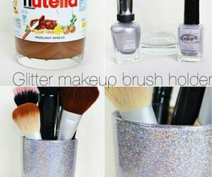 diy, nutella, and makeup image