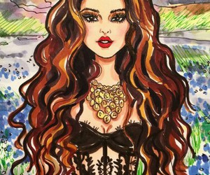 art, drawing, and selena gomez image
