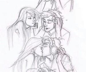 drawing, kiss, and cute image