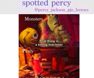 percy jackson, monster, and book image