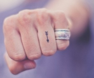 arrow, finger, and tattoo image
