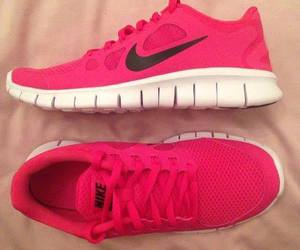 girl, nike, and red image