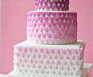 cake, pink, and heart image