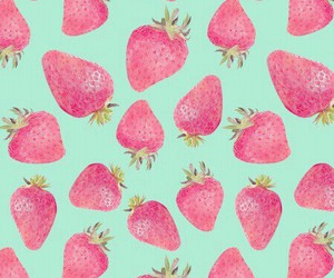 background, green, and strawberries image