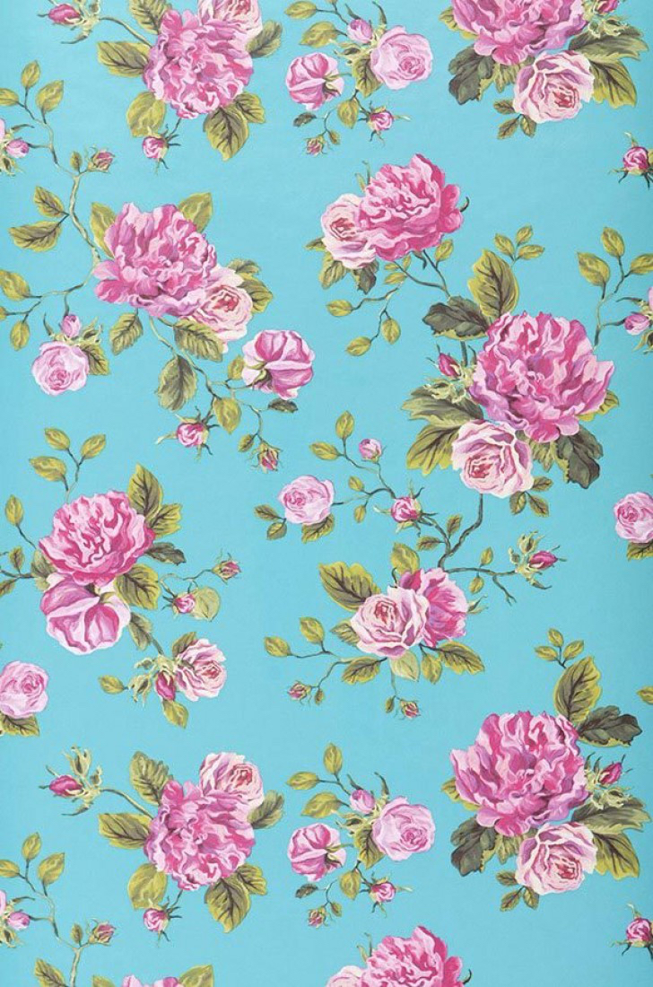 Retro Vintage Floral Wallpaper From The 70 S