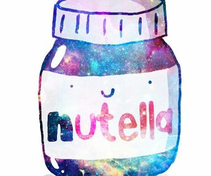 background, galaxy, and nutella image