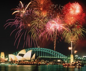 opera, Sydney, and feux d'artifices image