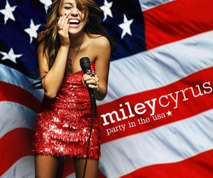 miley cyrus, party in the usa, and usa image