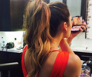 Nina Dobrev, make up, and hair image