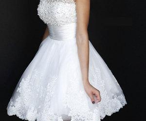 dress, white, and sherri hill image