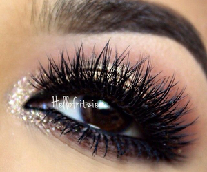 eyes, silver, and makeup image