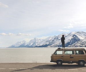 travel, mountains, and car image