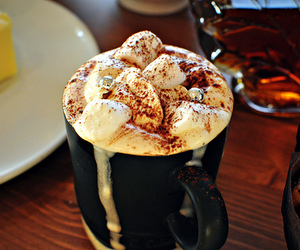 coffee, chocolate, and drink image
