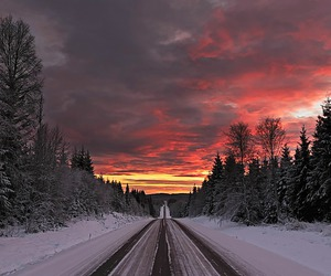 clouds, colors, and snow image
