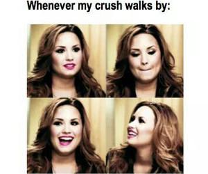 crush, demi lovato, and funny image