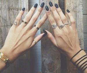 accessories, black, and nails image
