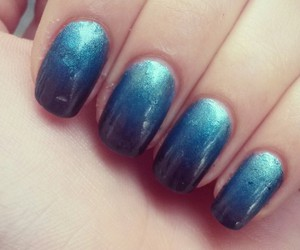 blue, gradient, and nail image