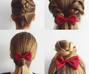 hairstyle, hair, and bow image
