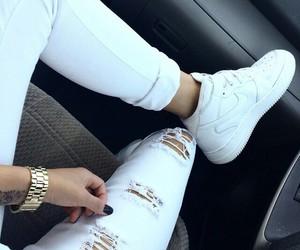 nike, white, and fashion image