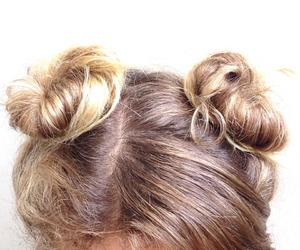 buns, grunge, and hair image