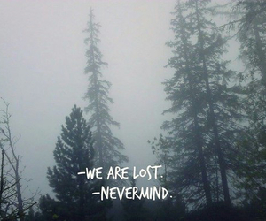 lost, sad, and words image