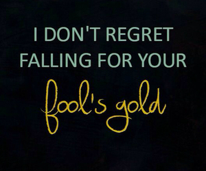 one direction, fool's gold, and Lyrics image