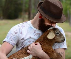 animals, nature, and beard image