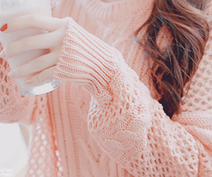 pink, sweater, and kfashion image