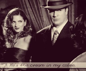 castle, coffee, and caskett image