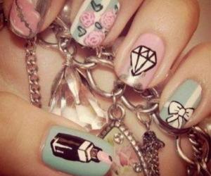 diamond, nail, and sweet image