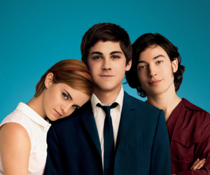 logan lerman, emma watson, and movie image