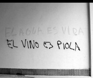water, vino, and frases image
