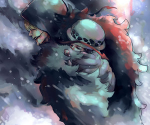 one piece, corazon, and Law image