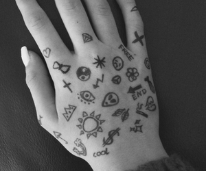 black and white, free, and hand image