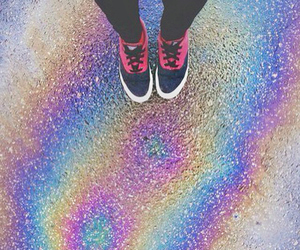 rainbow, grunge, and hipster image