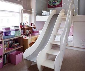 bedroom, slide, and room image