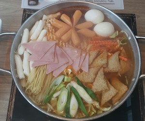 food, korean, and noodle image