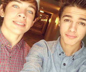 brent rivera, hayes grier, and magcon image