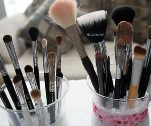 Brushes, makeup, and girly image