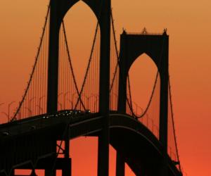 bridge, colors, and sun image
