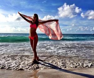 beach, Behati Prinsloo, and model image