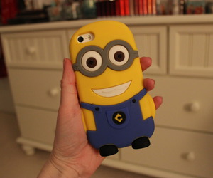 iphone, minions, and phone case image