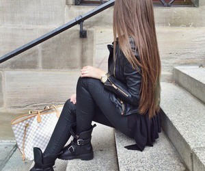beautifull, brown hair, and fashion image