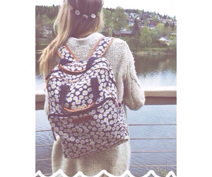 backpack, blonde, and crown image