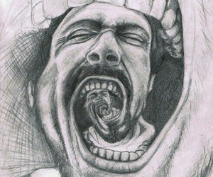 art, mouth, and Psycho image