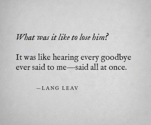 goodbye, poems, and lost image