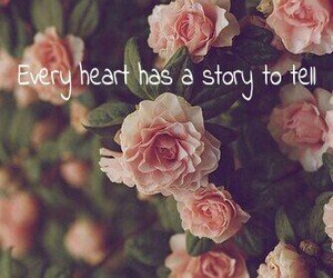 beautiful, flower, and heart image