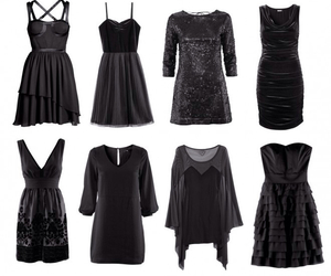 black, black dress, and clothes image