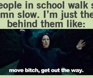 bitch, potter, and school image
