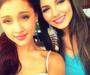 ariana grande, victoria justice, and friends image